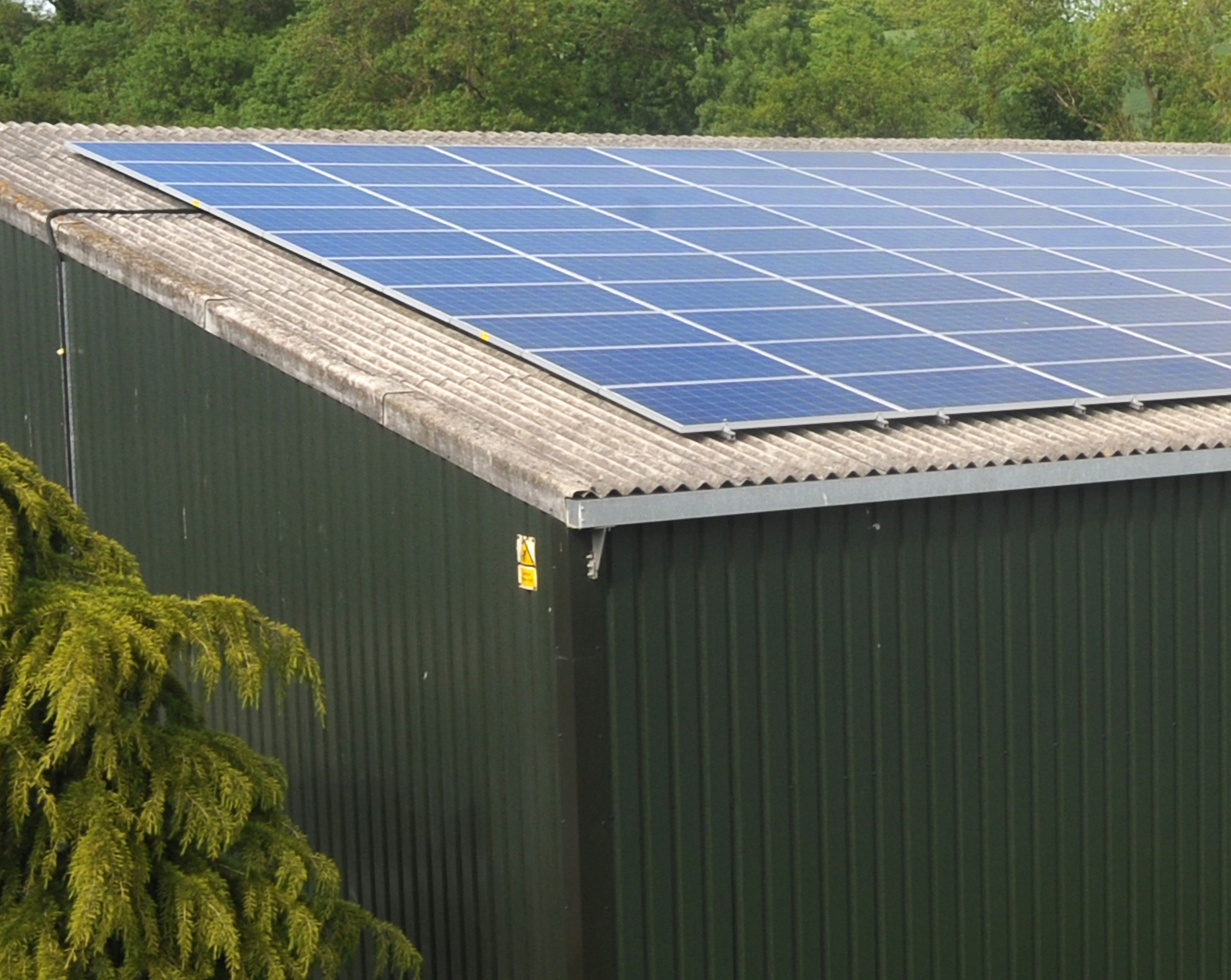 Solar panels in operation at the Sherwood Storage facility, Nottingham