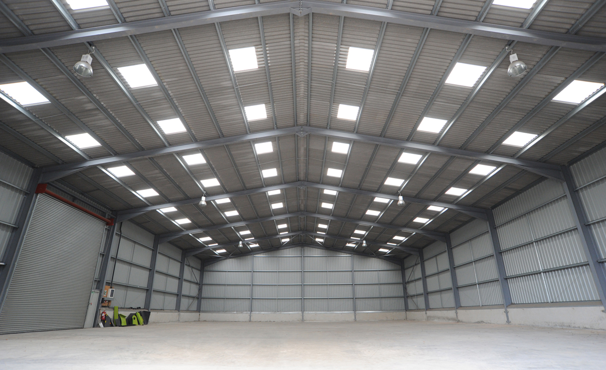 Inside the modern warehouse 9 at Sherwood Storage in Nottinghamshire